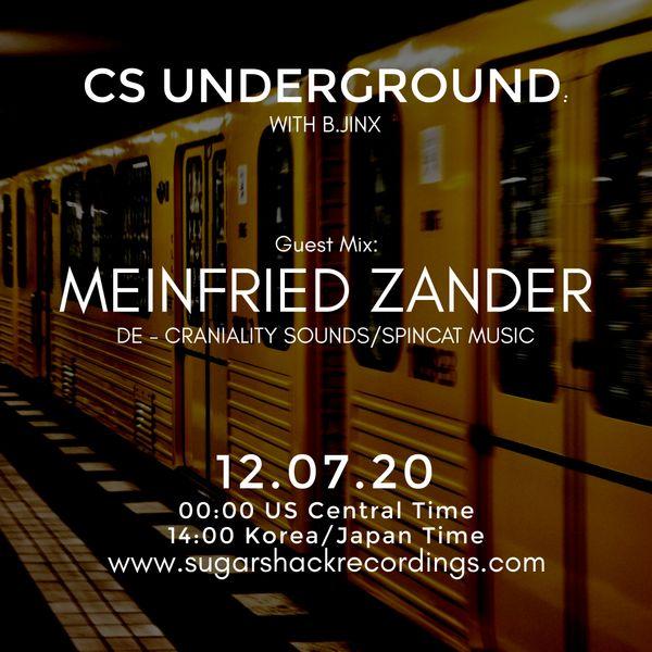 B.Jinx - Live On Sugar Shack (Cs Underground 12 July 2020) - Guest Mix: Meinfried Zander (De)