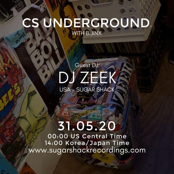 B.Jinx - Live On Sugar Shack (Cs Underground 31 May 2020) - Guest Dj: Dj Zeek (Usa)