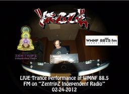 "Live broadcast on ""ZenTripZ"",  WMNF 88.5 FM Radio"