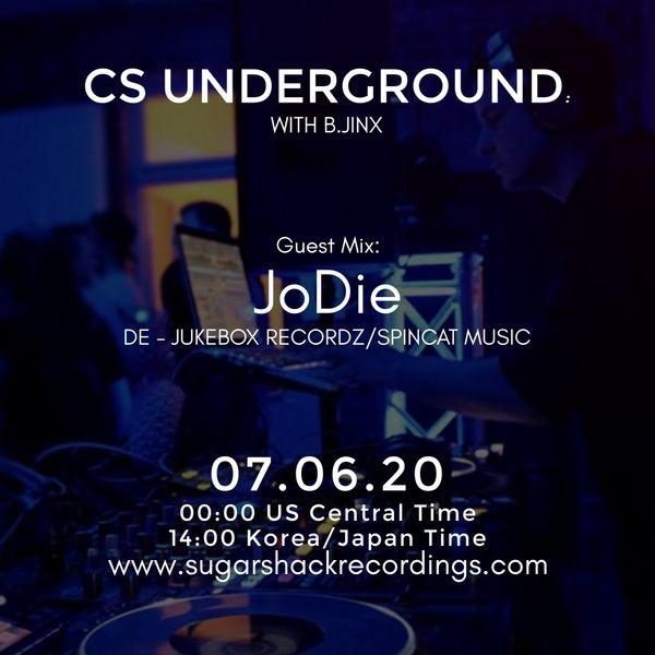 B.Jinx - Live On Sugar Shack (Cs Underground 7 June 2020) - Guest Mix: Jodie (De)