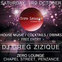Greg Zizique – Live @ Zero Lounge (Penzance) 03/10/15